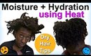 Hydrating & Moisturizing Natural Hair w/ Heat | LOC Method on 4c Hair