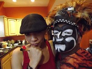 Mardi Gras, New Orleans , Zulu makeup