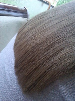 this is friend's hair,post my work,haircut and drying :-)