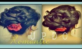 ★EASY ELEGANT HAIRSTYLES FOR MEDIUM LONG HAIR TUTORIAL | FANCY UPDO WITH CURLS BUN - WEDDING, PROM