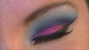 Vivid Blue Cut Crease- Closed Eye