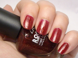 LA Girl Rock Star Nail Lacquer in Addict.  Two coats.