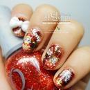Easy Christmas Nail Designs 2013
