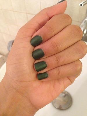 "I love this matte green. It's called ""veruschka"""