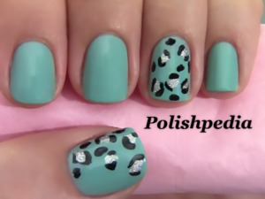 This design was really great to do.  I have never done teal before with a cheetah print and I love how it turned out.  Watch My Video Tutorial @ http://www.polishpedia.com/teal-cheetah-print-nails.html