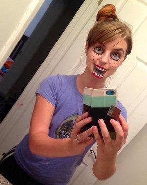 Creepy Halloween puppet makeup