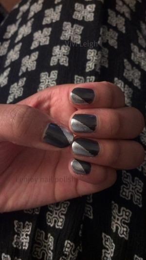 The nail polishes used were: Zoya Freja & Zoya Trixie