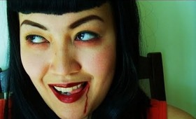EASY Vampire Bettie Page Tutorial for Halloween or a Costume Party