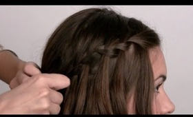 The Waterfall Braid Hair Tutorial