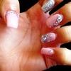 *New pink&silver nails
