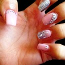 *New pink&silver nails