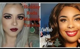 #HolidayReds Makeup Tutorial: Collab w/AlyJae   Beauty by Pinky