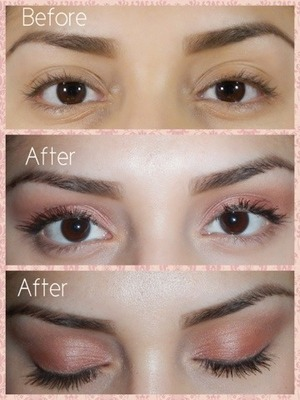 I used bobbi browns pretty powerful palette for this loos and topped it off with long wear intensifying mascara