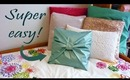 DIY room decor - No-sew bow pillow cover