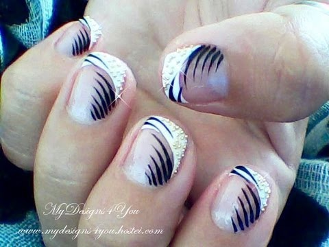 Re Edited Elegant French Nail Art Design Tutorial For Short Nails Mydesigns4you