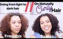 Dying Naturally Curly Hair// Going from Light to Dark