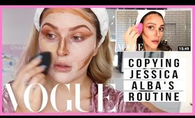 FOLLOWING Jessica Alba Daytime Smoky Eye! ⭐ VOGUE Recreation