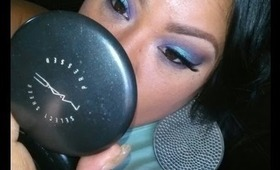 How to: Purple and mint eye makeup look