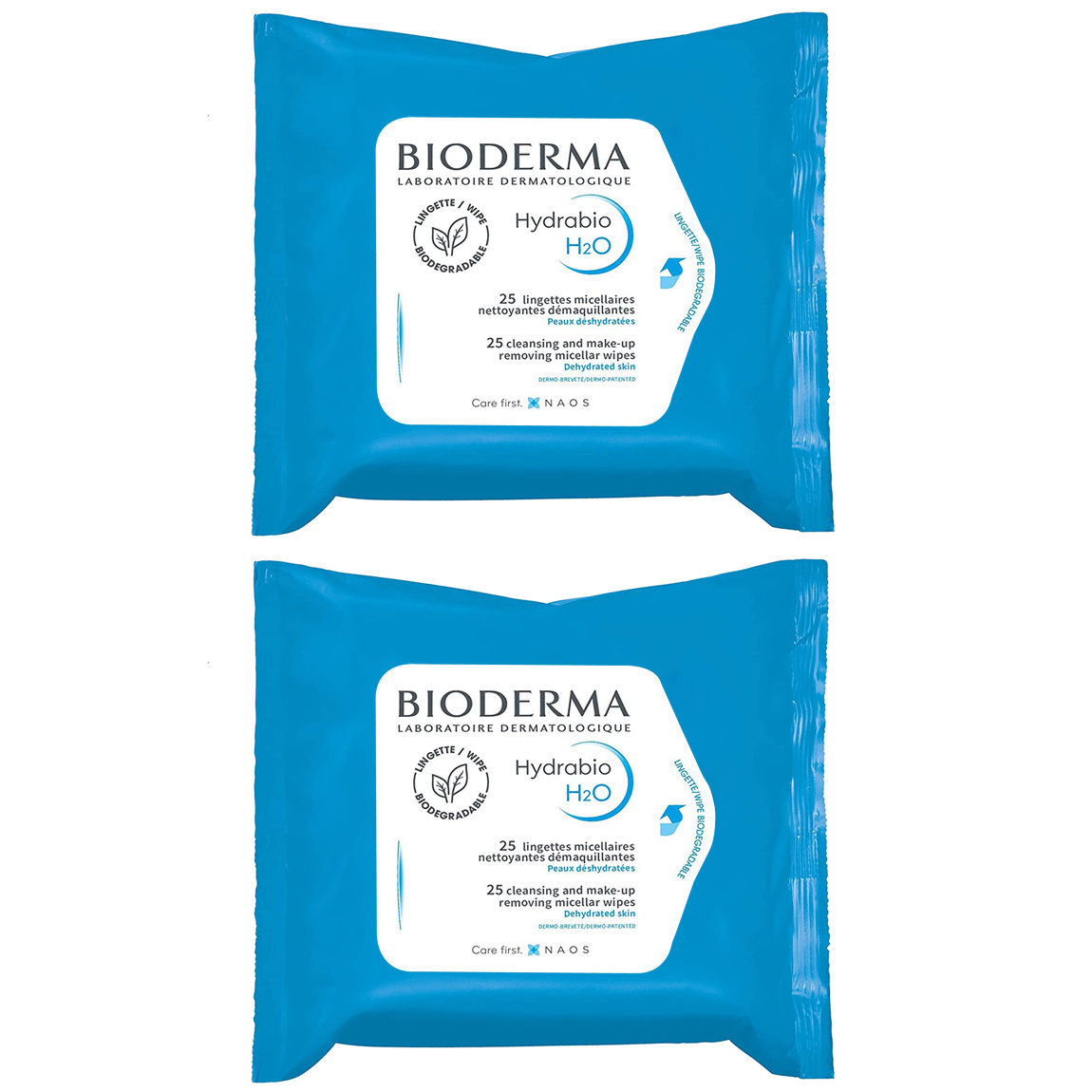 Bioderma Hydrabio H2O Wipes Duo alternative view 1 - product swatch.