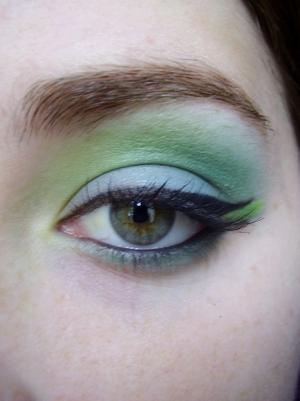 turquoise and green eyeshadow tutorial