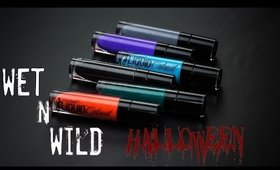 NEW Limited Edition Wet n Wild Halloween Liquid Lipsticks! Try on & First Impressions