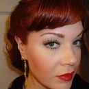 1940's Inspired Makeup- Lucille Ball