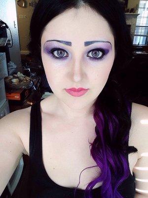 Waterproof makeup for a Mermaid gig