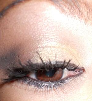 my first eye makeup tutorial Gold smokey eye coming soon