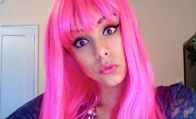 Nicki Minaj Inspired Makeup ♥ PINK Wig ♥