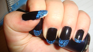 Tron Inspired Nails