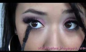 Stylish Volcano - Pink and Grey eyeshadow tutorial