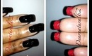 #130 Red Bottom Bond Girl Nails
