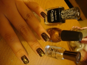 Gold and Glittery.
