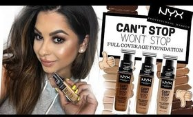 NYX CANT STOP WONT STOP FOUNDATION REVIEW | ARIELHOPEMAKEUP