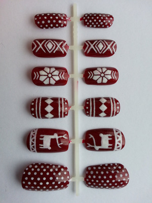 My take on Fair Isle Christmas Jumper nails! Buy them here: www.etsy.com/shop/nailsbydanielle