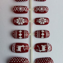 Fair Isle Christmas Nails!