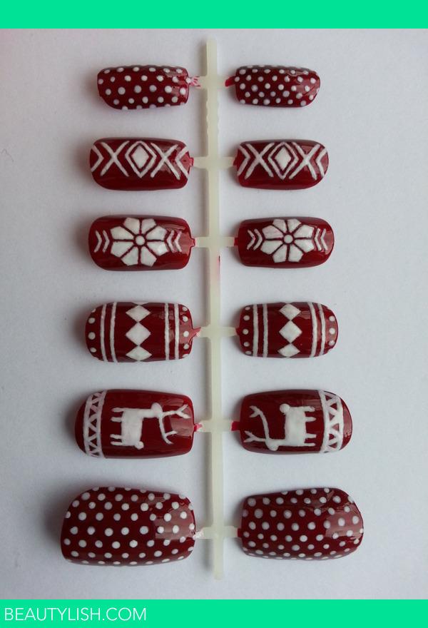 Fair Isle Christmas Nails! | Danielle S.\'s Photo | Beautylish