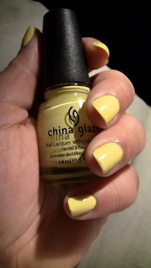 Nails: China Glaze Nail Polish in Lemon Fizz