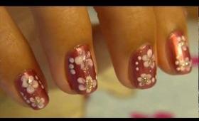 Simple flower nail tutorial