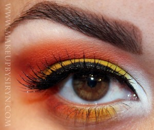 Candy Corn Halloween Inspiratonal Look (Collaboration with Ronnie from Bows and Curtseys and Meredith from Pigments and Palettes)   More pics and products used: http://makeupbysiryn.com/2011/10/19/candy-corn-inspirational-look-halloween-candy-collaboratio