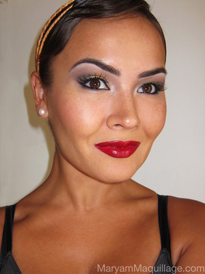 My take on Flapper Makeup :)) More info on my blog: http://www.maryammaquillage.com/2012/07/the-modern-flapper.html