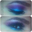 A Purple + Blue Eyeshadow Look