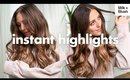Instant Highlights Using Milk + Blush Hair Extensions