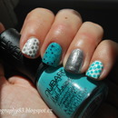 Tiffany blue and silver mani Inspired by Janelle (Eleandish)