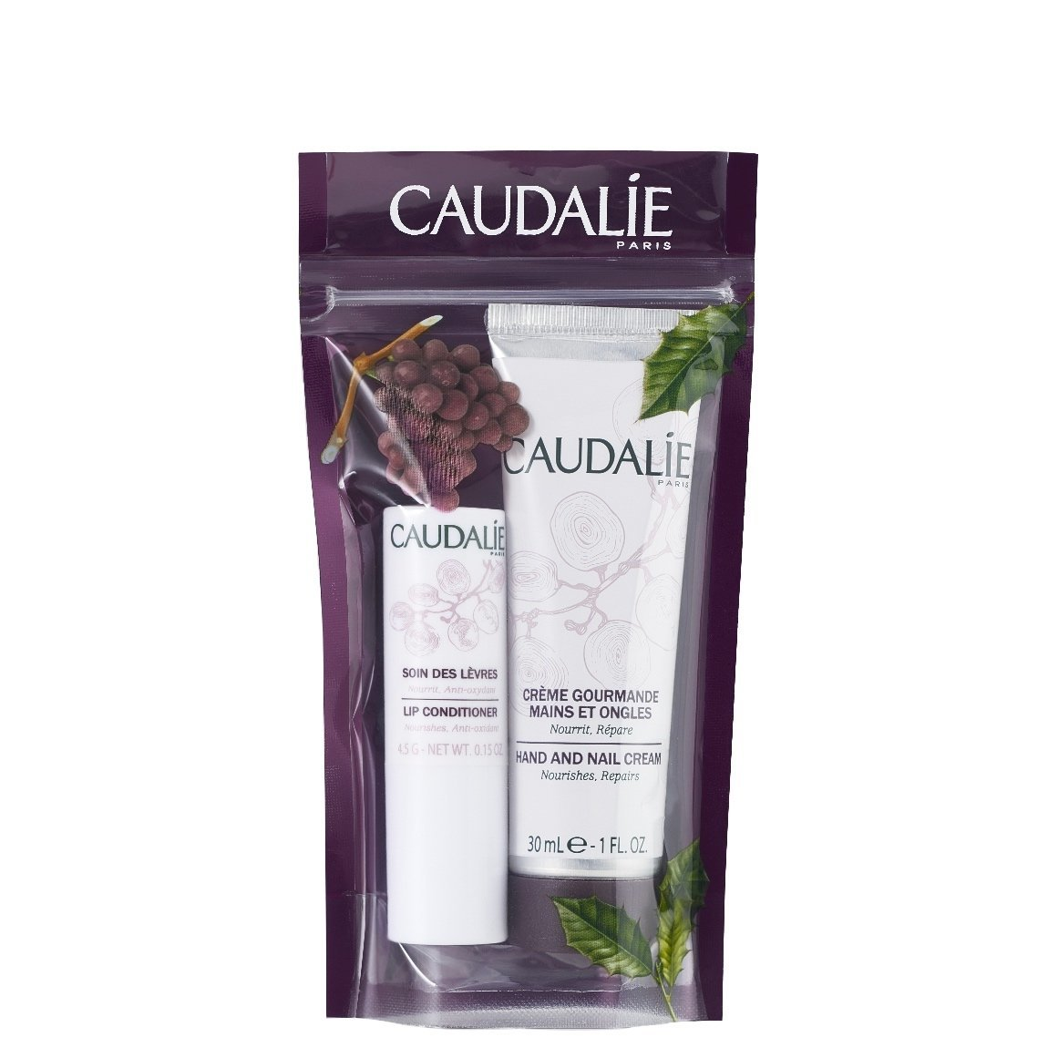 Caudalie Lip & Hand Duo product swatch.