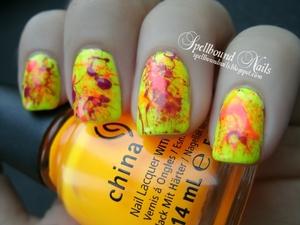 http://spellboundnails.blogspot.com/2012/07/neon-splatter.html