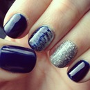 Navy & Silver with a Swirl