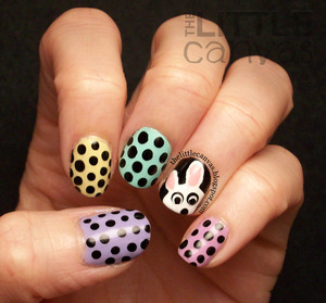 inspired by a manicure by Pshiiit :) - http://thelittlecanvas.blogspot.com/2013/03/a-semi-easter-manicure.html