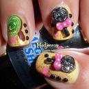 Sweet 3D Lollipops Nail Art