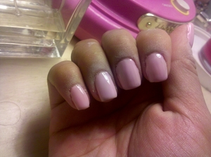 I did my own gel nails...forgot to put some cuticle oil or lotion =/